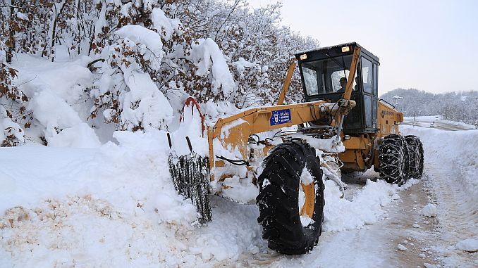 bursada снег няспынная барацьба працягваецца