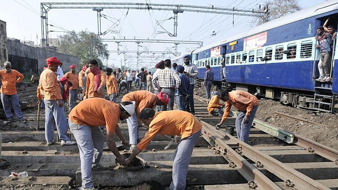63 million application for 19 thousand railway work to be taken in India