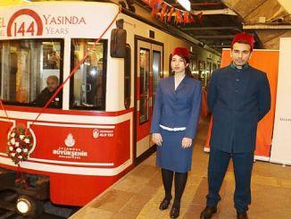 historische Karakoy-Tunnel 144 Yasinda