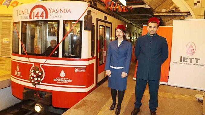 ඓතිහාසික karakoy tunnels 144 yasinda