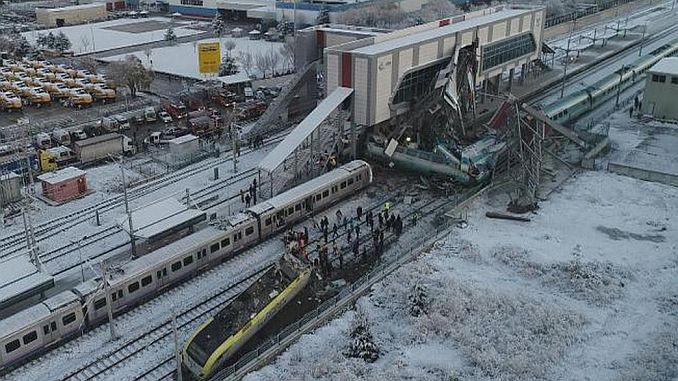 tcdd mudurune gore tren choque yht maquinistas y tijeras responsables