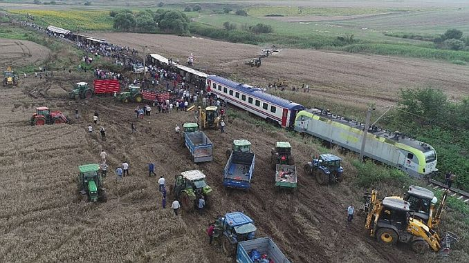 the average of positive train accidents in Turkey Dunya times more 3