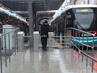 новый турникет на станции Аккарайн Февзия 1