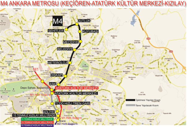 ankara m4 kecioren metro stations