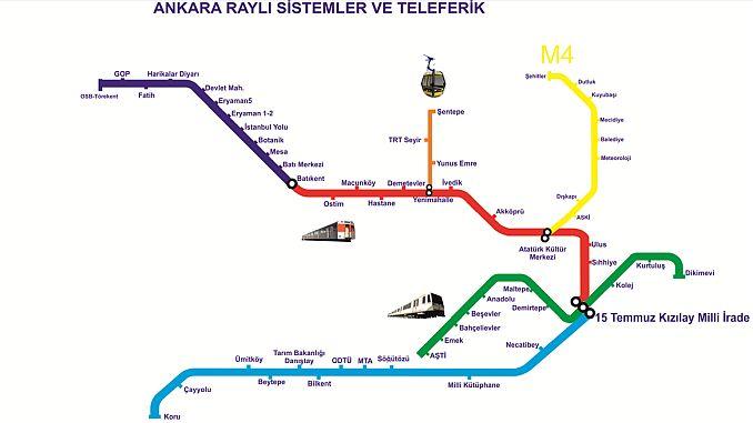 ankara jernbanesystem kort