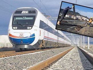bursa rapid train construction demirtas viyadugunden resumed