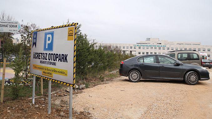 nilufere kostenlose parkplätze