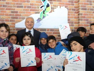 Erzincanda completed the ski course students received their certificates