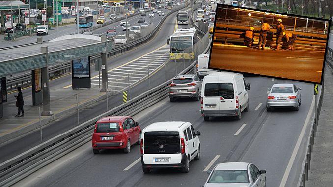 ibbden metrobus guzergahina εύκαμπτο φράγμα