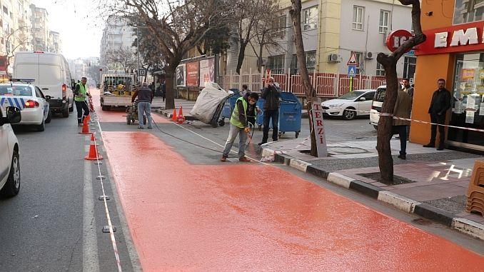 Izmir ulični promet na tržištu zatvoren