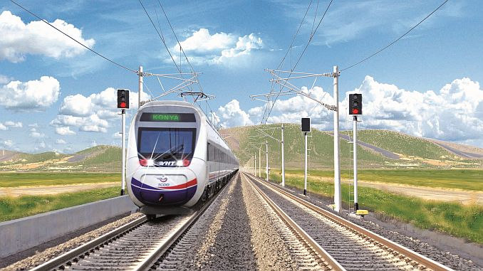 konya karaman rapid railway line is being completed this year