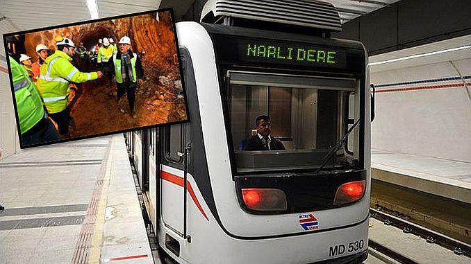 narlidere metrosunda ilk isik gorundu 2
