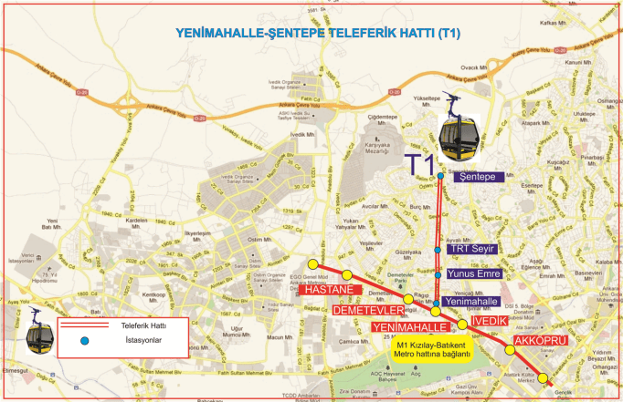 yenimahalle sentepe cable car line