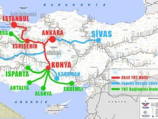 Mapa linija brzih vlakova 2019