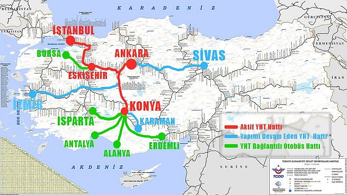 High Speed ​​Train Lines Map