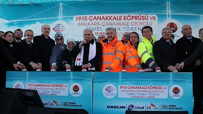 Today in History: 18 March 2017 1915 of Canakkale Bridge - RayHaber