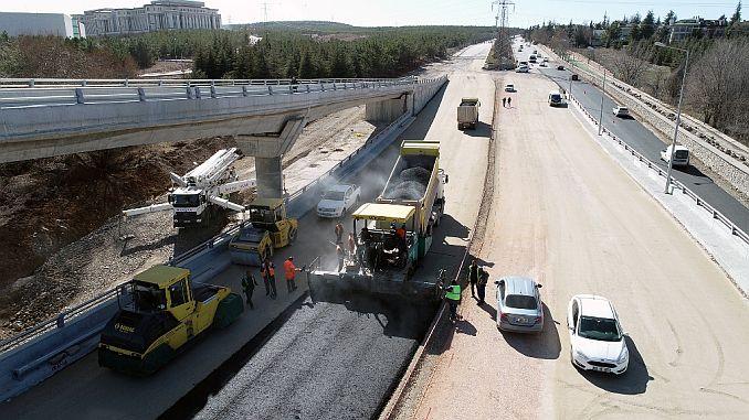 Ankarada Road Kreuzung refuj setzt Arbeit fort