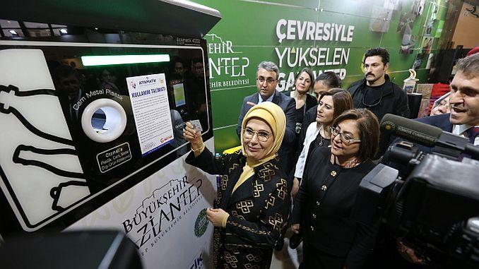 emine erdogan a chargé une carte dans gaziantep
