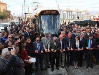 eskisehir city hospital tram line started service