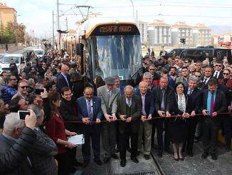 eskisehir sehir hastanesi tramvay hatti hizmete basladi
