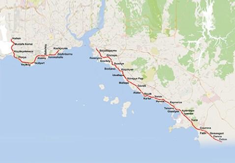kart over halkali gebze metro - marmaray