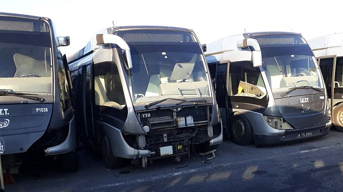 hollandadan alinan metrobusler hurdaya dondu
