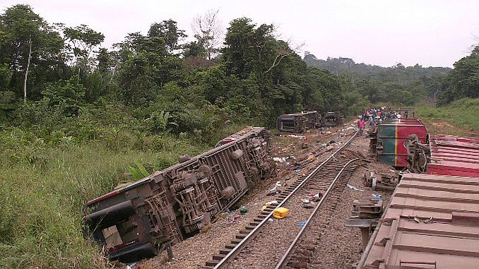 حادث قطار الكونغو في غالبية الأطفال