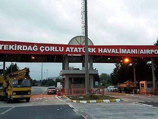 Το αεροδρόμιο tekirdag corlu άλλαξε το όνομα