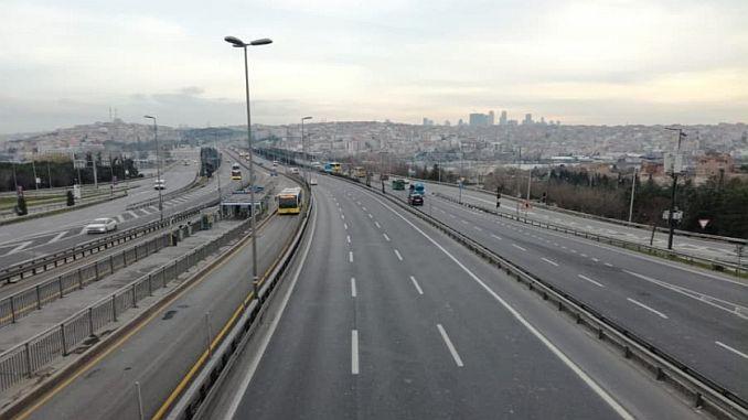 barabara zilizofungwa na njia mbadala huko Istanbul