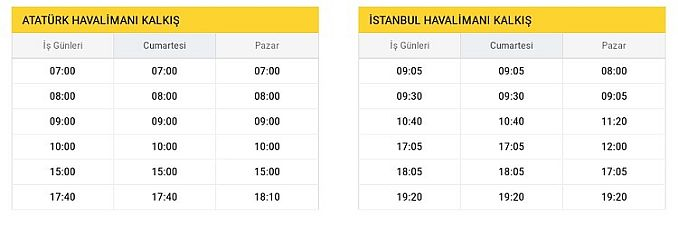 H Atatürk Airport New Airport Departure Hours