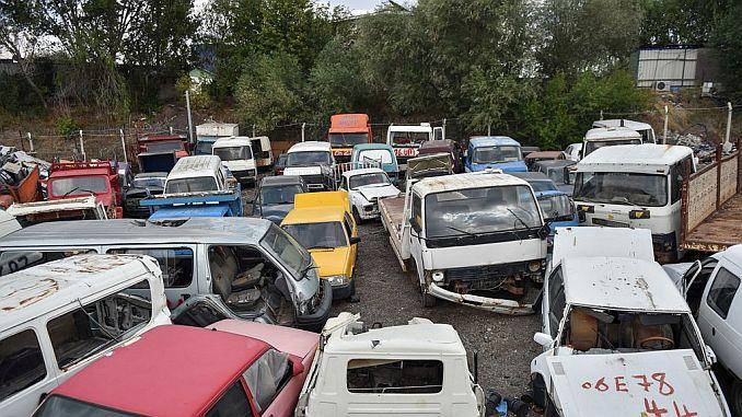 Ankara está recogiendo grandes vehículos de chatarra