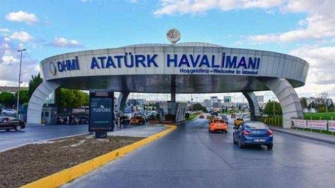 sommige wegen op de luchthaven van Ataturk zijn gesloten