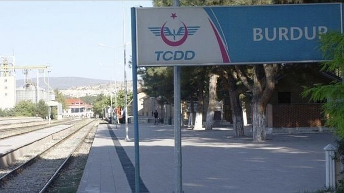 Burdur arriving at the train station