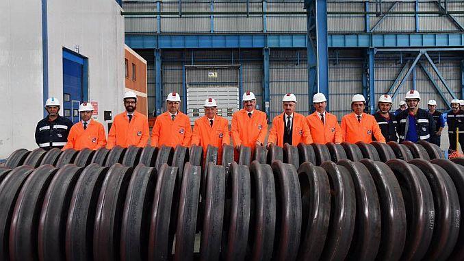 production of railway wheels