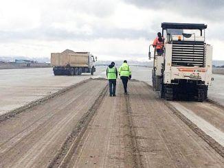 erzurum airport track renovation work begins