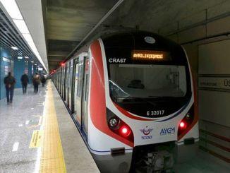 Marmaray отсасывали в окружающую среду выше тока пассажирского электрического