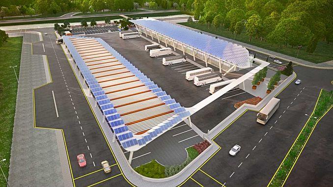 Der Intercity-Busbahnhof der Armee wird seinen eigenen Strom produzieren