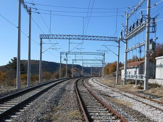 high voltage warning on tcddden balikesir railway line