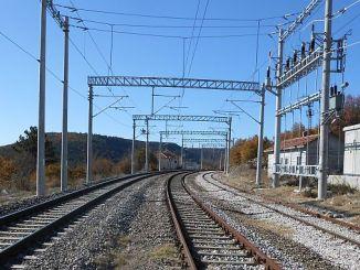 предупреждение о высоком напряжении на железнодорожной линии tcddden balikesir