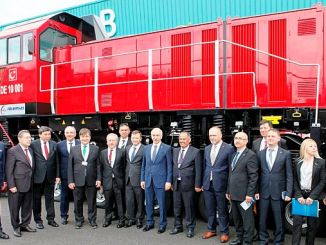 DE 10000 National Electric Shunting Locomotive Showed at Eurasia Rail 2019