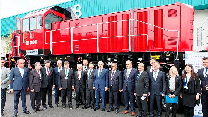 DE 10000 National Electric Shunting Locomotive Showed at Eurasia Rail 2019