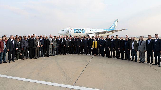 Primera expedición de carga desde el aeropuerto de Yenisehir.