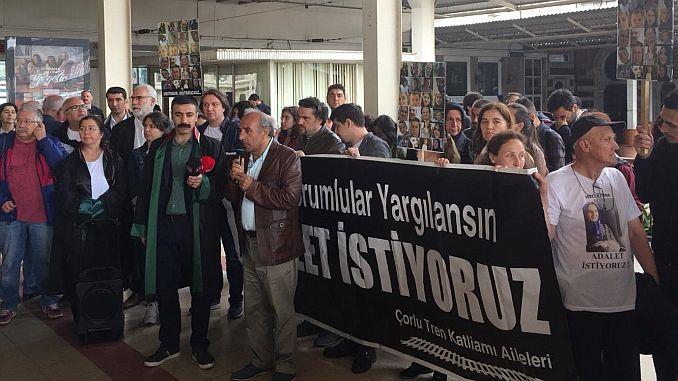 corlu Zugunglück Gerechtigkeit Nobetine Sirkeci Garinda fortgesetzt