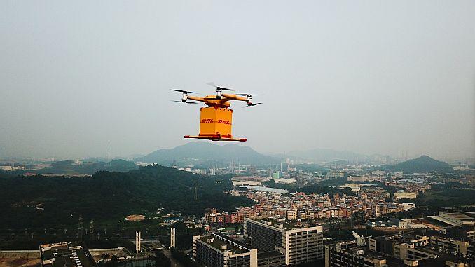 dhl cinde drone kynnir farm sendingu