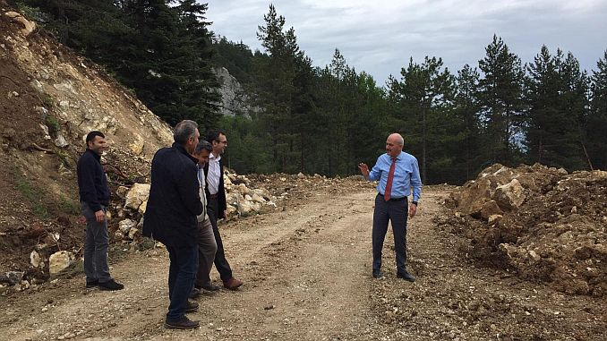Road expansion works at the Keltepe ski resort