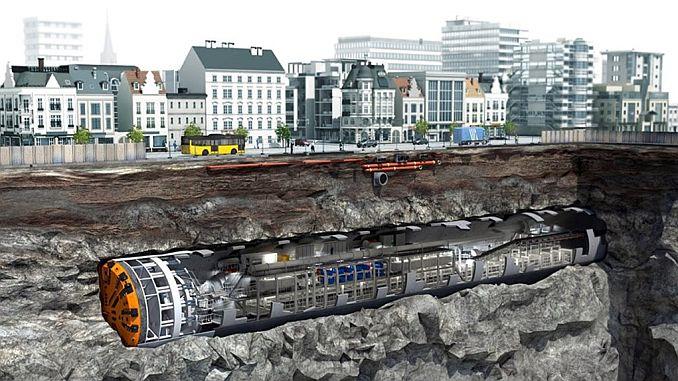 Giant Mole Landed In Narlıdere Subway Underground