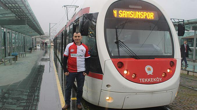 samsunda Straßenbahn frei