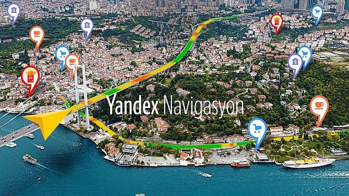Routing routes and practical route information from yandex navigation users