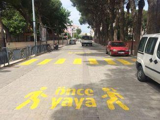 Fußgängerschutz für Fußgänger