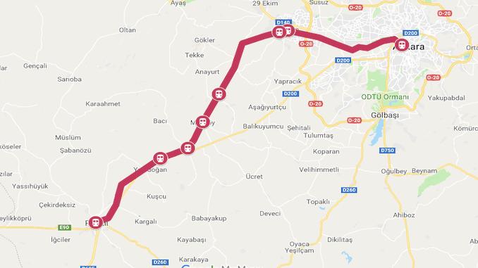 Kort over Ankara Polatli
